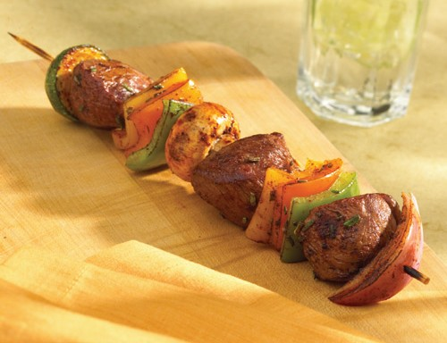 Balsamic and Rosemary Scented American Lamb Kebabs