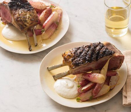 Easy Grilled Rack Of Lamb With A Creamy Feat Horseradish sauce