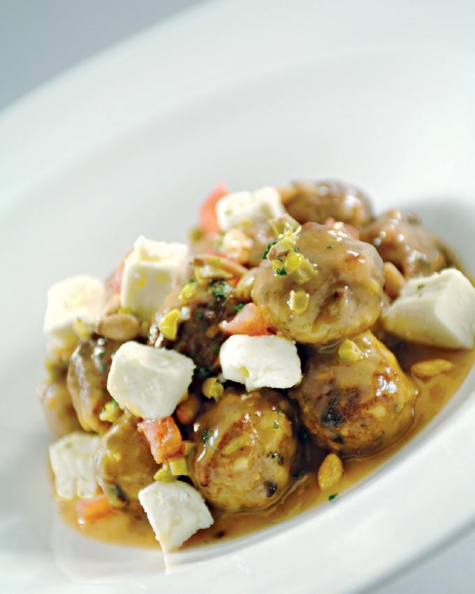 Greek Style Braised Lamb Meatballs