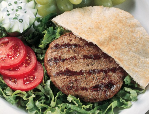 Gyro Burger with Yogurt Sauce