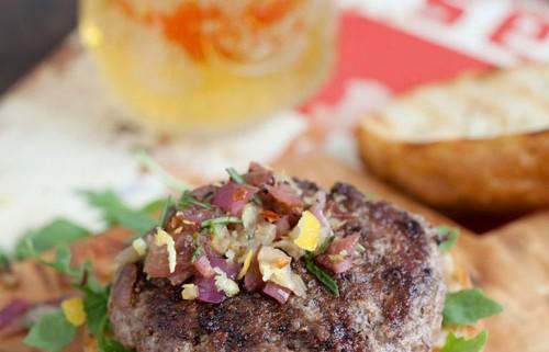 Juicy Grilled American Lamb Burger