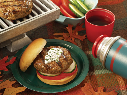 Merguez Lamb Burgers with Yogurt Sauce - Superior Farms