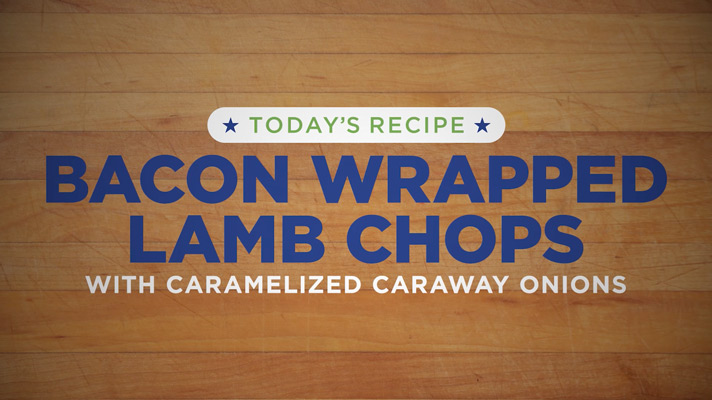 Tucker recipe - Bacon Wrapped Lamb Chops