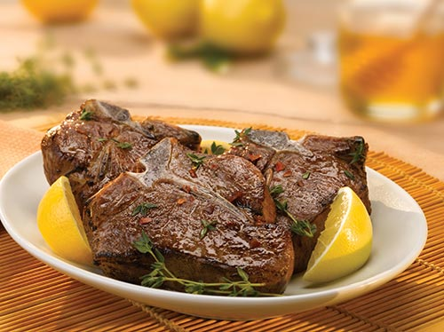 Loin Chops with Lemon, Honey & Thyme Marinade