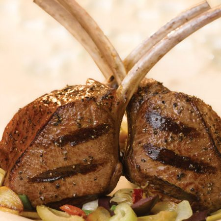 Grilled Rib Chops With Savory Artichoke Tapenade Sauce Superior Farms